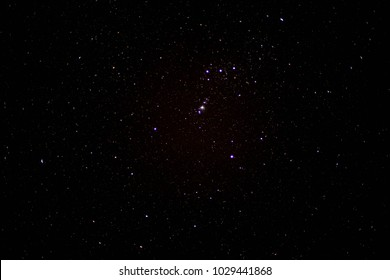 Starry Sky at Night with Orion