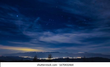 Starry sky and night view from the mountain in the Southern Alps - Shutterstock ID 1670432464