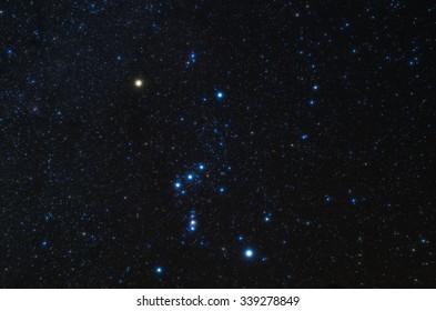 starry sky,orion, yosemite,usa