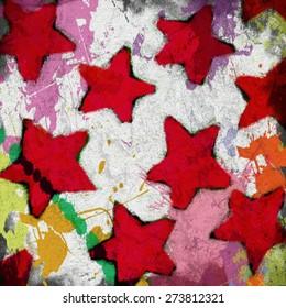 stars background grunge paint