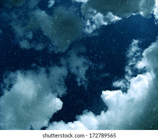 Stars and clouds illustration