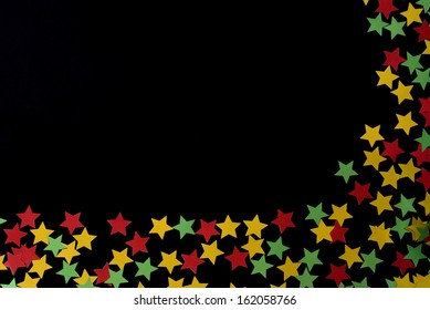 Stars as decoration for christmas, New Year's or celebrations. Use as design element and add your copy or other elements in the empty corner.