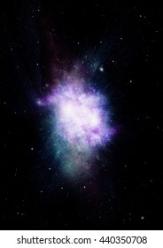 """Stars, dust and gas nebula in a far galaxy. """"Elements of this image furnished by NASA"""""""