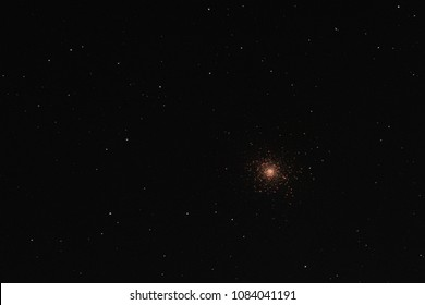 Stars forming the Messier 5 globular cluster in the constellation Serpens as seen from Mannheim in Germany.