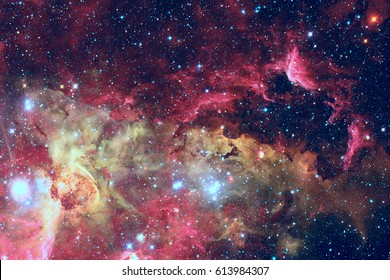 Stars and galaxy in a deep space. Elements of this image furnished by NASA.
