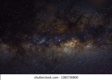 Stars and galaxy outer space sky night universe black starry background of shiny starfield