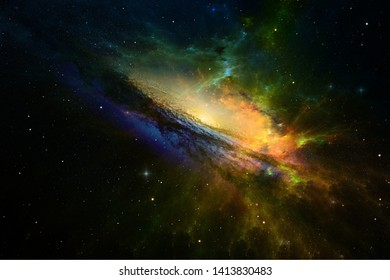Stars and galaxy space sky night background