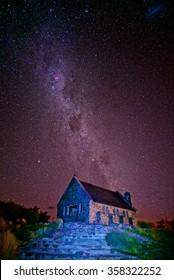 Stars in Lake Tekapo