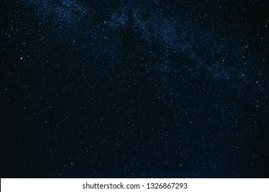 stars and the milky way background the blue starry sky at night