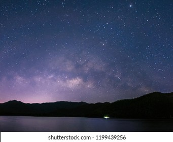 Stars and Milky Way in the beautiful night sky