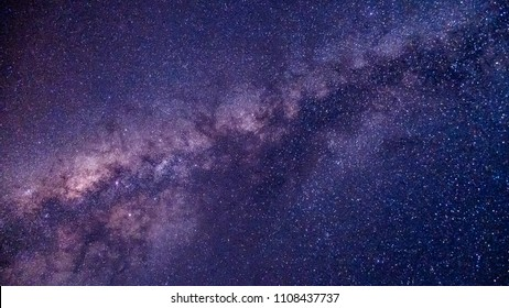 The stars and the Milky Way in the night sky are very beautiful. - Shutterstock ID 1108437737