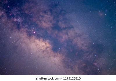 Stars and Milky Way in Night Sky