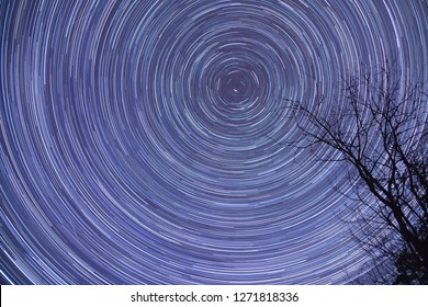 Stars moves around the northstar