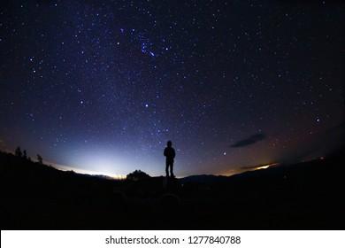 Stars at night, Chiang mai, Thailand