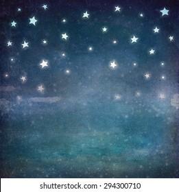 Stars at night grunge sky ,background