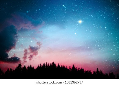 Stars in the night sky. Abstract space background.