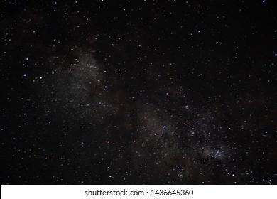 Stars in the night sky background texture milky way glow of stars. Dark interstellar space.Stars in a deep space.Dark night sky.Flying dust particles on a black background.Starfield. Starry Night Sky.