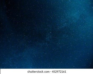The stars in the night sky. Real photo.