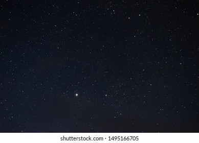 Stars in the night sky through the clouds