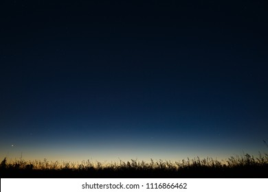 Stars in the night sky. A view of outer space at dusk.