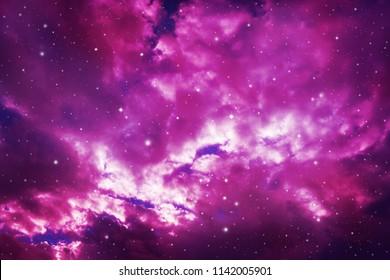 Stars in the night sky,purple background.