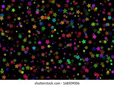 Stars on a black background
