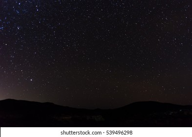 Stars over the Baja mountains