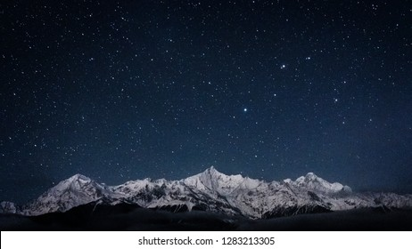 stars over Meili Snow Mountains