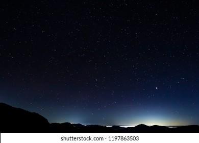 Stars at Shibu Pass, Shiga Kogen, Nagano Prefecture, Japan