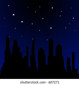 Stars shining in the sky at night