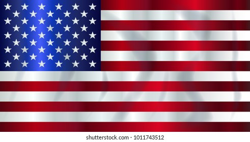 The 'Stars and Stripes' flag with shadow waving