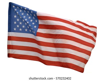 Stars and stripes on the American flag