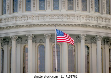 The Stars and Stripes at the US Capitol Building