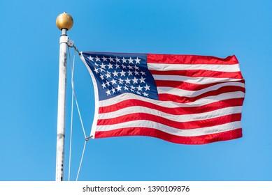 Stars and stripes of USA national flag