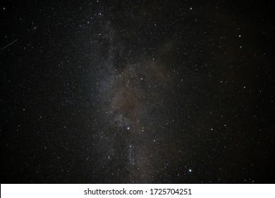 Stars in the Swedish night sky in summertime