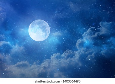 stars and view of the moon