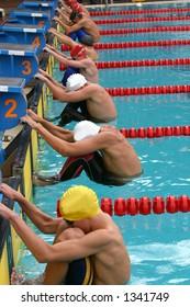 Start of backstroke