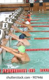 Start of the backstroke