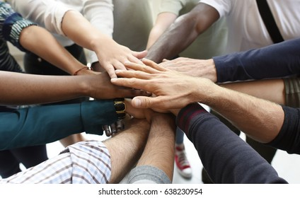 Start up Business People Teamwork Cooperation Hands Together