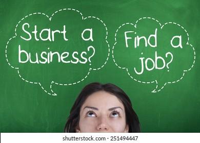Start a business vs Find a job