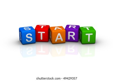 start (buzzword colorful cubes series)