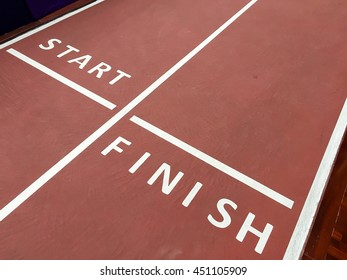 Start and Finish point of race track
