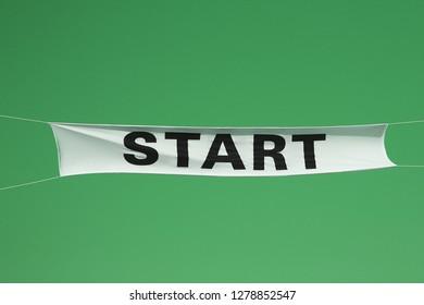 start flag on green
