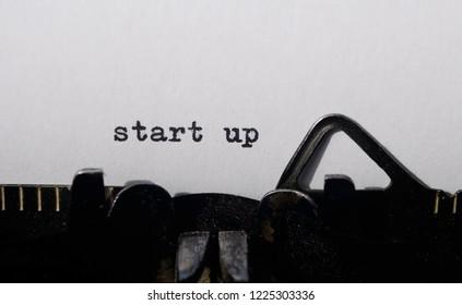start up on old typewriter