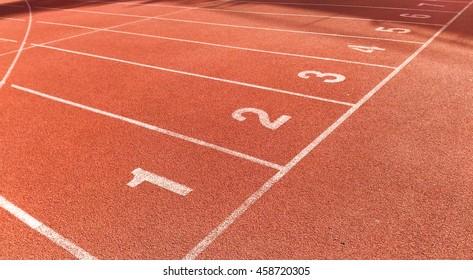 Start point of athletics track