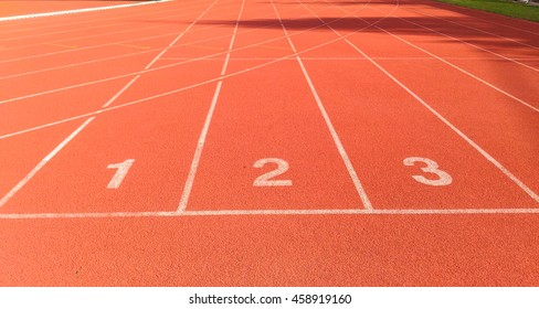 Start point of athletics track
