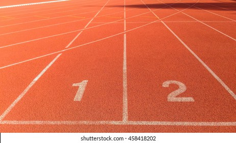 Start point of running track