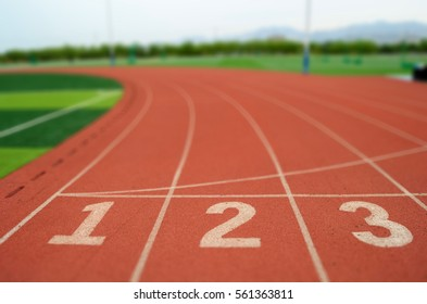 The start point of running track