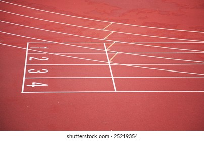 start of running track