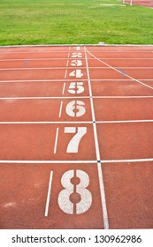 start running track rubber standard red color